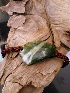 Washington River Vulcan Chatoyant Jade and Leather Braided Bracelet by SmithNJewels on Etsy
