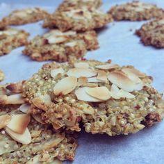 Mandel-Quinoa-Paletten - in 2020 Paleo Dessert, Quinoa Desserts, Muffin Recipes, Baby Food Recipes, Healthy Sweets, Healthy Snacks, Health Cookies, Oat Cookies, Kids Menu