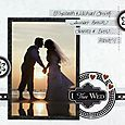 Divine Wedding 8x8 Scrapbooking Kit Layout, Creative Memories