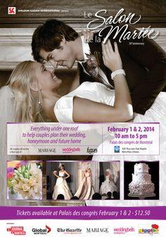 Le Salon de la Mariée 2014 - Montreal Feb 1 & 2, 2014