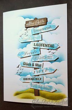 Claudia's Karteria: Ruhestandswegweiser | Retirement signpost I Card, Retirement, Card Ideas, Instagram, Boxes, Bricolage, Handmade, Amor, Creative