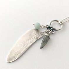Handmade Silver Dragonfly Charm Necklace   Working925Jewellery on Etsy