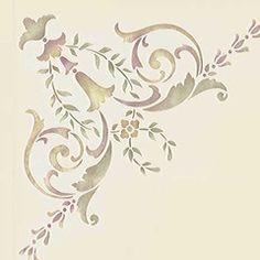 19th Century Corner Ceiling Stencil