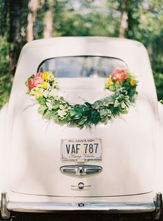 wedding car garland