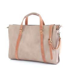 HARRI is the perfect leather bag to fit all you need for work or for a weekend getaway. Leather Bag, Gym Bag, Suitcase, Satchel, Pouch, Backpacks, Beige, Colour, Handbags