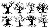 Unheimlich Baum Silhouetten — Stockvektor #53969679