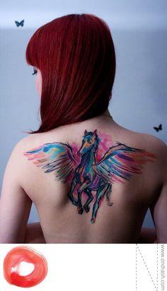 Painterly tattoos by Ondrash