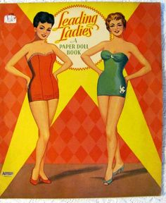 Leading Ladies Paper Dolls UNCUT Vintage 1953 Saalfield  THIS IS MAISIE AND HER FRIEND WHO WENT TO PARIS
