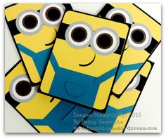 Everyone loves a Minion!  These cards come together so quickly!  Read my tip for adhering the wonky mouth here:  www.booptique.wordpress.com