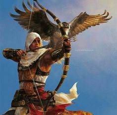 Bayek and his eagle.