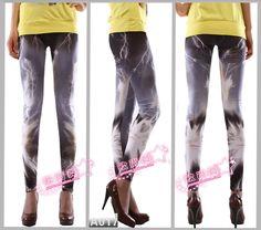 fashion Lightning pattern women skinny leggings $9.58