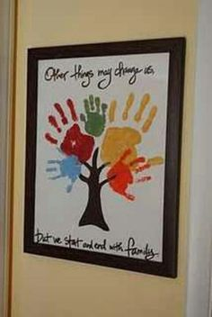 Handprint family tree father's day kids craft gift idea art for kids, crafts for kids Kids Crafts, Family Crafts, Cute Crafts, Crafts To Do, Arts And Crafts, Easy Crafts, Santa Crafts, Decor Crafts, Cool Diy Projects