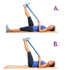 TRY LEG RISES FOR GOOD ABS 1.Lying down leg raises -Lie on your back with your hands on the floor or under your bottom. -Keeping a slight bend in the knees and feet together start with both feet up towards the ceiling. -Without allowing your lower back to overarch slowly lower your legs towards the floor without bending the knees any more than they already are. -When legs are almost on the floor squeeze the abs and lift them back up to the start and repeat 2.Hanging leg raises -You can…