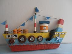 One of my many boats. Named after me. Sea side art design by Philippa Komercharo.