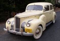 1941 Packard 120 Touring Sedan.  A very pretty car in good running condition.  Excellent interior upholstery, dual side mounts, new brakes all around including wheel cylinders and master cylinders, new timing chain, wheel bearings, tune up and other mechanical fixes.