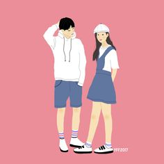 Art, ilustrasi, outfit couple, ootd, drawing, drawing outfit, fashion drawing
