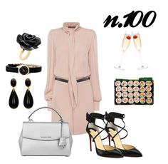 """""""OOTDW-100 by Katie"""" by katie-xdress-morgan ❤ liked on Polyvore featuring Alexander McQueen, Christian Louboutin, Michael Kors, BCBGMAXAZRIA, Marc by Marc Jacobs, Nach Bijoux and LSA International"""