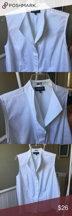 NWT Jones New York platinum structured collar top NWT Jones New York collection platinum woman size 22W structured white collar blouse top perfect for career and work attire. Chest is 50 inches. machine wash tumble dry no iron wrinkle resistant travel friendly Jones New York Tops Blouses