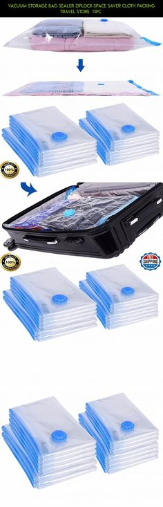 Vacuum Storage Bag Sealer Ziplock Space Saver Cloth Packing Travel Store  13pc  #technology #ziplock #gadgets #racing #kit #storage #tech #plans #shopping #drone #fpv #bags #camera #products #parts