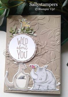 Wild Animal Friends - Stampin up cards - Tier Wild Animals Drawing, Cute Wild Animals, Animal Drawings, Baby Animals, Wild Animals Photography, Wildlife Photography, Travel Photography, Baby Shower Cards, Baby Cards