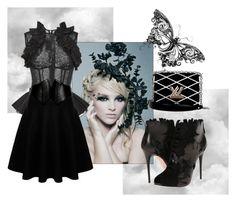 """Black dress code"" by ejuszczyk ❤ liked on Polyvore featuring Oscar de la Renta, Alaïa, Alexander McQueen and Louis Vuitton"