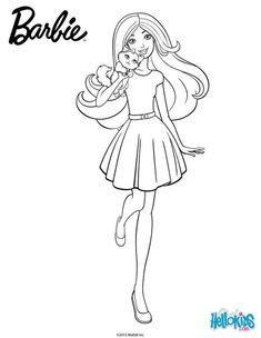 Disney Coloring Pages Printables, Barbie Coloring Pages, Pattern Coloring Pages, Coloring Pages For Girls, Cute Coloring Pages, Coloring Books, Barbie Colouring, Barbie Girl, Barbie Drawing