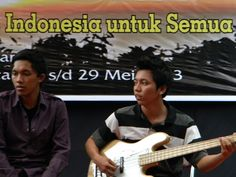 ..a group of youth sang Indonesian patriotic songs at the opening..