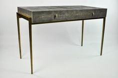 bureaux galuchat ginger brown france,shagreen desk