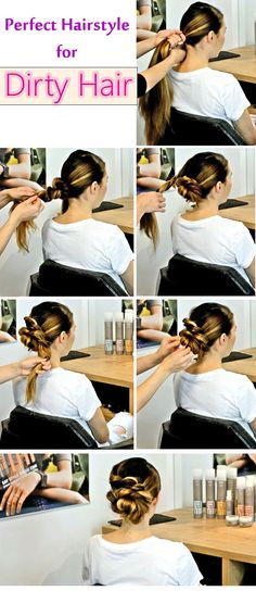 Gotta go? Have less than five minutes to get ready for office or function? No worries! Here are Easy Hairstyles to do in Just 5 Minutes or Less. Very Easy Hairstyles, Bun Hairstyles, Hairdos, Hairstyle Ideas, Updos, Flower Bun, Fashion Days, Hair Inspiration, Your Hair
