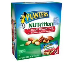 Planters Nutrition Heart Healthy Mix 6 pouches Pack of 3 ** Check this awesome product by going to the link at the image. Healthy Snack Options, Healthy Food List, Heart Healthy Recipes, Healthy Nutrition, Get Healthy, Healthy Snacks, Healthy Eating, Diabetic Recipes, Yummy Recipes
