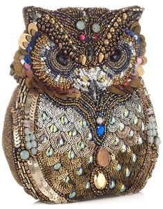 Oscar The Embellished Owl Bag | Grey | Accessorize