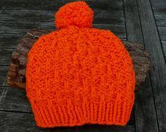 Mützen - superweiche Mütze Kinder orange - ein Designerstück von DeineWunschmuetze bei DaWanda
