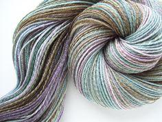 Winter Vine  3 ply Handspun Merino/Tencel Sock Yarn  by woolamina, $47.00
