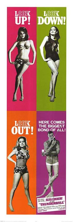 [THUNDERBALL POSTER ] with Sean Connery holds the box office record for the Bond franchise