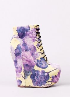 I actually need these Jeffrey Campbell - Damsel Floral shoes OMG