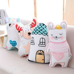 Fabric Toys, Fabric Decor, Baby Art Crafts, Fox Pillow, Scrap Fabric Projects, Kawaii Doll, Kids Room Wall Art, Homemade Toys, Sewing Pillows