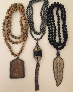 Hand knotted and beaded necklaces. Email lisajilljewelry@gmail.com