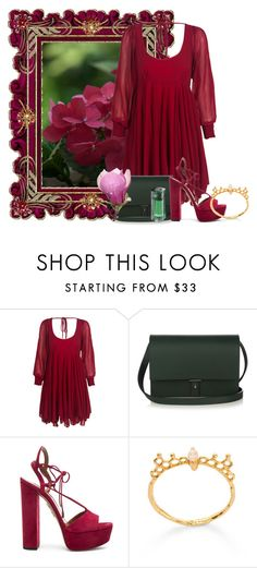 """""""Sem título #1938"""" by carpe-diem96 ❤ liked on Polyvore featuring WithChic, PB 0110, Aquazzura and Shanghai Tang"""