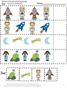 With this Outer Space Interactive Notebook Cut and Paste Activities set students in P-K, Kindergarten, Special Needs and Autism classroom can practice number matching, counting, addition and subtraction. Outer Space Activities, Space Theme Preschool, Math Activities, Planets Preschool, Outer Space Crafts For Kids, Kindergarten Math Worksheets, In Kindergarten, Subtraction Worksheets, Math Notebooks