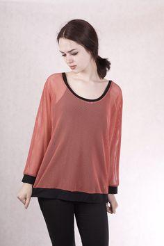 Kleider - NARA® Netz Shirt terracotta - ein Designerstück von Berlinerfashion bei DaWanda