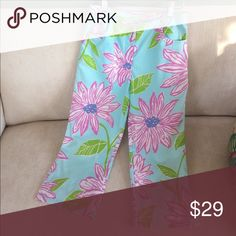 Lilly Pulitzer pants 👖 100% cotton girls Lilly Pulitzer pants Lilly Pulitzer Pants Boot Cut & Flare