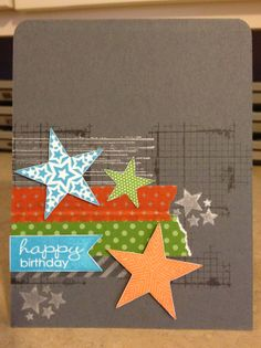 Catherine Loves Stamps: Simply Stars, Gorgeous Grunge, Off the Grid, Point & Click, Banner Greetings, washi tape