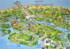 toronto islands map                                                       …