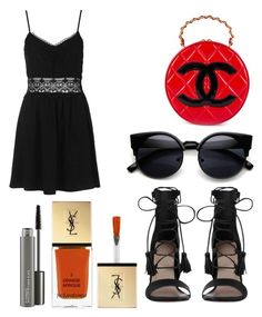 """""""Untitled #7524"""" by ohnadine on Polyvore featuring Chanel, Topshop, Zimmermann, MAC Cosmetics and Yves Saint Laurent"""