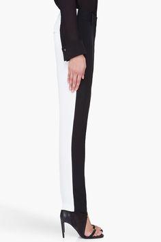 3.1 Phillip Lim two tone silk pencil trouser