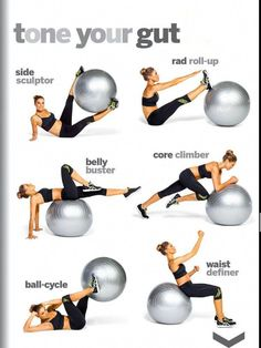 Fitness Workouts, Fitness Workout For Women, Fitness Diet, Yoga Fitness, Health Fitness, At Home Workout Plan, At Home Workouts, Ball Workouts, Exercices Swiss Ball
