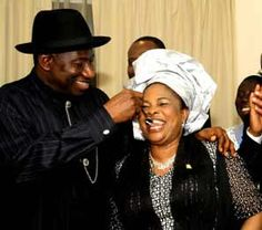 CITY News: Goodluck Jonathan and His Wife- Patience, Cannot S...
