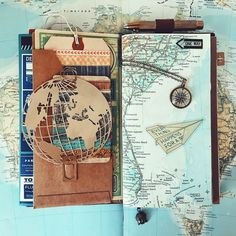 Travel journal pages and inspiration - ideas for travel journaling and art journaling.