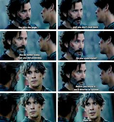 Dad Kane™ and his problematic son Bellamy Blake