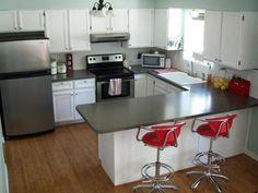 U shaped kitchen photos